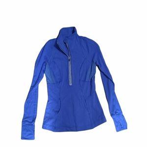 Lululemon half zip pullover cobalt blue womens size 4